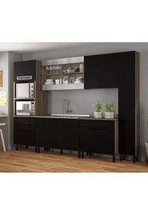 Cozinha Compacta Itamaxi Iii 11 Pt 4 Gv Preta E Castanho