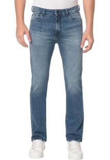 Calça Jeans Five Pocktes Relaxed Straight Ckj 037 Relaxed Straight - Azul Médio - 46