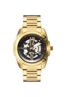 Relógio Touch Unissex Face Dourado Tw2317Aa/4P Tw2317Aa/4P