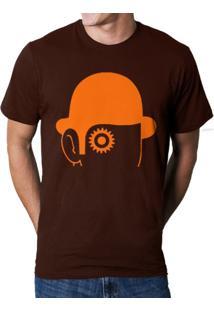 Camiseta Hshop Laranja Mecânica Marrom