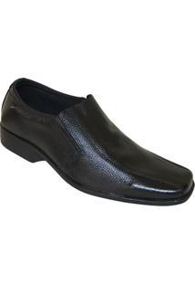 Sapato Social Fox Comfort Side Gore - Masculino-Preto
