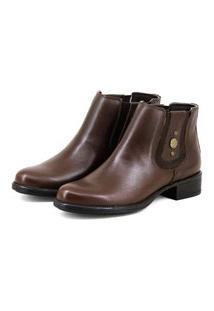 Bota Chelsea Boots Escrete Original Marrom