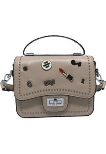 Mini Bolsa Sys Fashion Casual Importada 8301 Bege