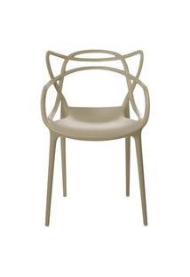 Cadeira Master Allegra Polipropileno Nude - 23148 Preto