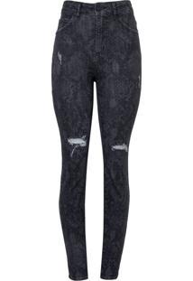 Calca Bobô Marina Feminina (Jeans Black Medio, 38)
