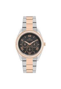 Relógio Technos Feminino Classic Analógico Prata 6P29Ake5P