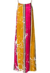 Uma Wang Vestido Listrado - Rosa
