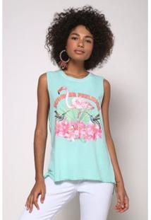 Regata Flamingo Oh, Boy! Feelings Wave Feminina - Feminino-Verde