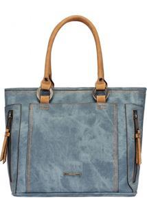 Bolsa Mormaii Shatchel Com Divisórias E Detalhe Costura Grossa - 44715 - Azul