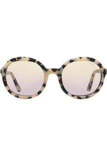 Prada Eyewear Óculos De Sol Oversized - Neutro