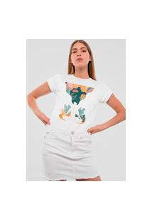 Camiseta Feminina Mirat Natureza Branco
