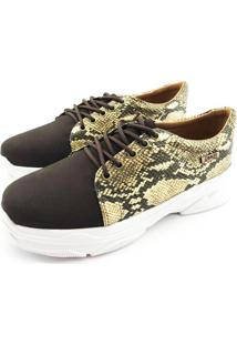 Tênis Chunky Quality Shoes Feminino Phyton Marrom 35