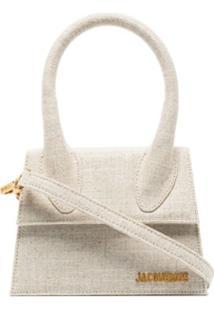 Jacquemus Beige Le Chiquito Moyen Linen Bag