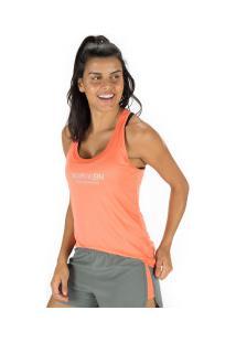 Camiseta Regata Calvin Klein Basic Nadador - Feminina - Laranja