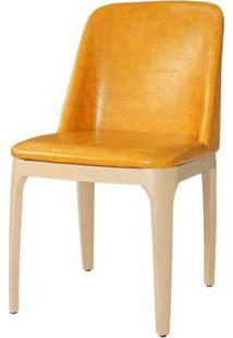 Cadeira Versailes Courissimo Caramelo Base Madeira Clara - 59543 - Sun House