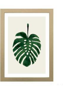 Quadro Decorativo Green Leaf 28X38Cm Zebrano Infinity