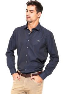 Camisa Mr Kitsch Geométrica Azul-Marinho