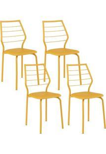Cadeira 1716 04 Unidades Amarela Carraro