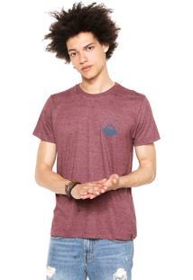 Camiseta Quiksilver New Wave Bordô
