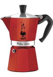 Cafeteira Italiana Bialetti Moka Color Vermelha - 6 Xícaras (300Ml)