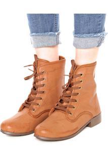 d8582bf507 ... Bota Coturno Dafiti Shoes Lisa Caramelo