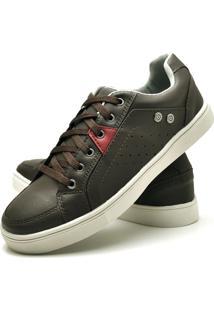 Sapatênis Sapato Casual Juilli Com Cadarço Masculino 05L Café Marrom