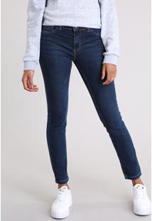 Calça Jeans Feminina Cigarrete Azul Escuro