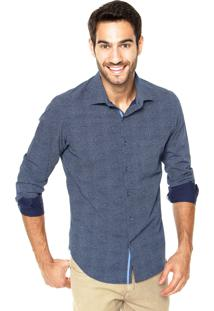 Camisa Richards Estampa Azul