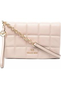 Michael Michael Kors Square-Quilted Leather Crossbody Bag - Rosa
