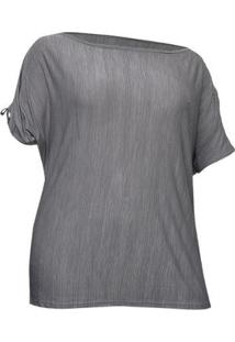 Camiseta Way Plus Size Extreme - Feminino-Cinza