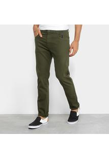 Calça Sarja Slim Ellus 2Nd Floor Color Masculina - Masculino-Verde Militar