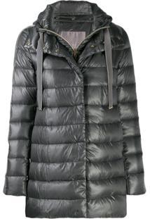 Herno Padded Hooded Jacket - Cinza