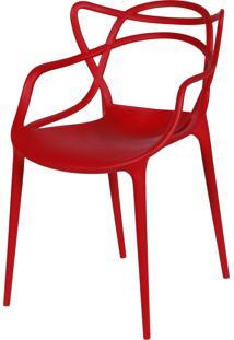 Cadeira De Jantar Solna Or Design Vermelho