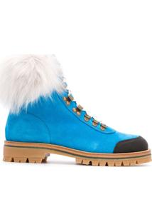 Mr & Mrs Italy Ankle Boot Pedules Com Solado Chunky - Azul