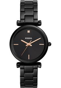 Relógio Analógico Fossil Feminino - Es4442/1Pn Preto