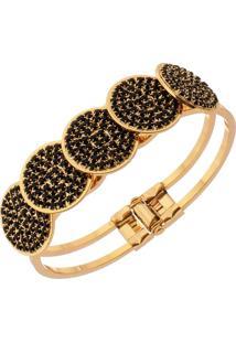 Bracelete Com Zircônias Tudo Jóias Folheado A Ouro 18K Dourado