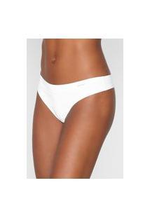 Calcinha Calvin Klein Underwear Fio Dental Lisa Branca