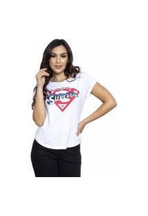 Camiseta Sideway Super Girl - Branca