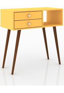 Penteadeira 1 Nicho 2 Gavetas Retrô About Home - Amarelo - Multistock