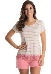 Pijama Stripe Curto