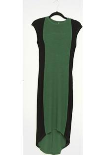Vestido Colcci Mullet Canelado - Feminino-Verde Escuro
