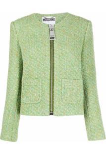 Moschino Jaqueta De Tweed - Verde
