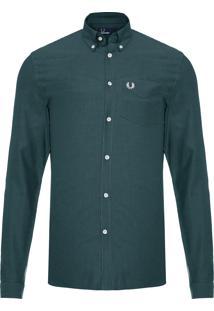 Camisa Masculina Classic Oxford - Verde