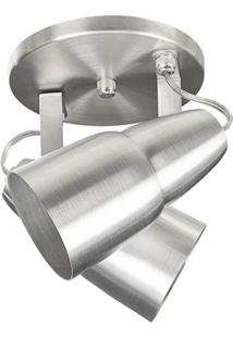Spot 1040 Alumínio Escovado 2 Lâmpadas Pavilonis