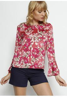 Blusa Floral - Pink & Rosa - Moisellemoisele