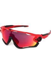Óculos De Sol Oakley Jawbreaker Vermelho