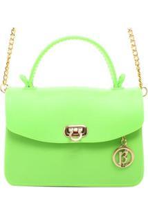 Bolsa Pequena Neon - Feminino-Verde