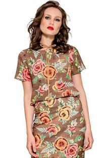 Blusa Print Maxi Floral Alphorria A.Cult