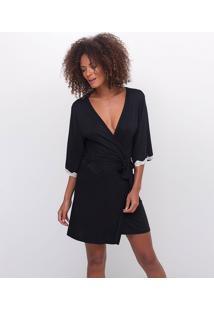 Robe Feminino Com Detalhe Em Renda