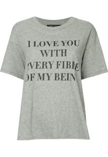 Nobody Denim Camiseta Love - Cinza